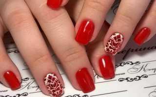 Идеальный вишневый маникюр с узорами: маникюр, фото дизайна ногтей