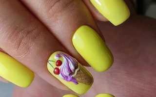 Вкусные ногти с мороженным: маникюр, фото дизайна ногтей