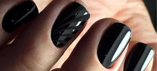 Топ 10 черных дизайнов маникюра: маникюр, фото дизайна ногтей