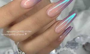 Кофейные ногти с серебряной втиркой: маникюр, фото дизайна ногтей
