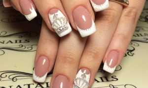 Френч из точек в белом маникюре: маникюр, фото дизайна ногтей