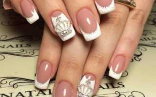 Изысканный белый маникюр с френчем: маникюр, фото дизайна ногтей