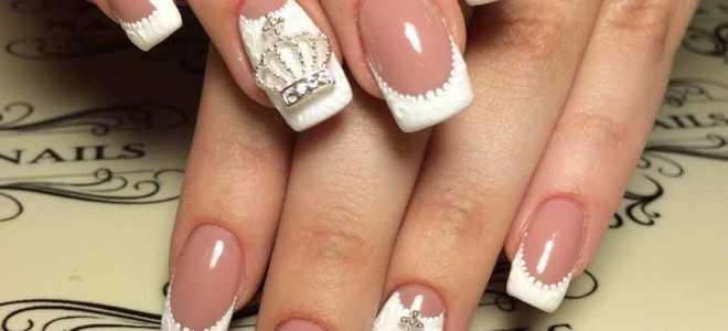 Фиолетовый с белым твист-френч на длинных ногтях: маникюр, фото дизайна ногтей