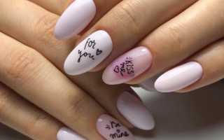 Маникюр с надписями: маникюр, фото дизайна ногтей