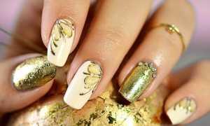 Блестящий золотистый маникюр на праздник: маникюр, фото дизайна ногтей