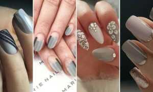 Серый с серебром педикюр: маникюр, фото дизайна ногтей
