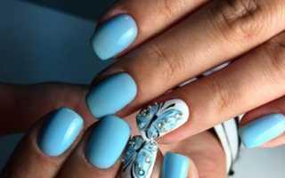 Бабочка из страз в матовом маникюре: маникюр, фото дизайна ногтей