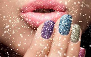 Гирлянда: новогодний маникюр: маникюр, фото дизайна ногтей