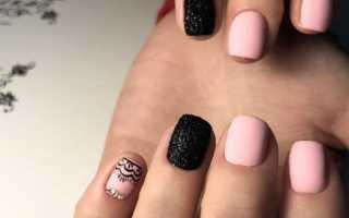 Черный с розовым – идеальный кракле для ногтей: маникюр, фото дизайна ногтей