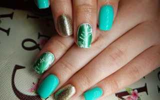 Маникюр с блестками зеленый: маникюр, фото дизайна ногтей