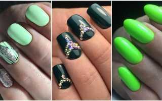 Голографический маникюр в зеленом цвете: маникюр, фото дизайна ногтей