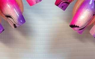 До и после! Коррекция гель-лак и роспись: маникюр, фото дизайна ногтей