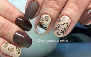 """Маникюр цвета """"кофе с молоком"""": маникюр, фото дизайна ногтей"""