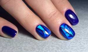 Битое стекло на нарощенных ногтях: маникюр, фото дизайна ногтей