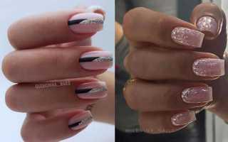 Велюровые ногти в черно-серебряном цвете: маникюр, фото дизайна ногтей