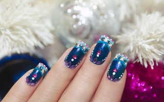 Веселый новогодний маникюр для длинных ногтей: маникюр, фото дизайна ногтей