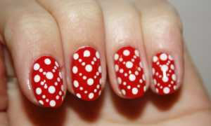 Маникюр в горошек – цветные сочетания: маникюр, фото дизайна ногтей