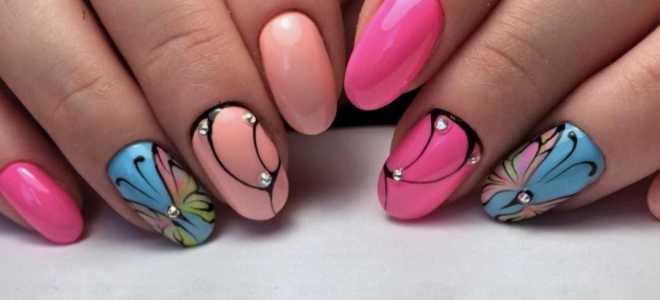 Длинные разноцветные ногти: маникюр, фото дизайна ногтей