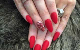 Глянцевые блики на длинных матовых ногтях: маникюр, фото дизайна ногтей