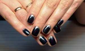 Черный с серебром маникюр: маникюр, фото дизайна ногтей