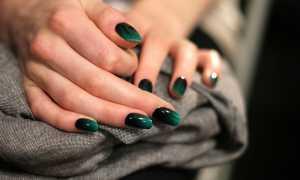 Зимний голубой омбре: маникюр, фото дизайна ногтей