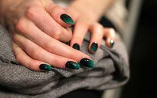 Бульонки и омбре в шеллак-маникюре: маникюр, фото дизайна ногтей