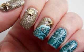 Оригинальный морской педикюр: маникюр, фото дизайна ногтей