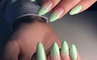 Букет цветов с мятный гель-лаком: маникюр, фото дизайна ногтей