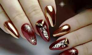 Новогодние длинные ногти: маникюр, фото дизайна ногтей