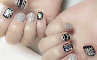 Маникюр матовый с серебром: маникюр, фото дизайна ногтей