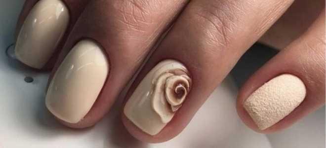 Оранжевый маникюр с нюдом: маникюр, фото дизайна ногтей