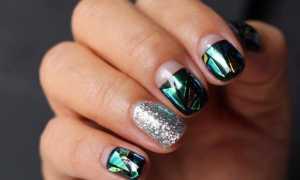 Битое стекло и шикарный аквамарин: маникюр, фото дизайна ногтей