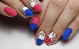 Милые снеговички и теплые свитерки на ногтях: маникюр, фото дизайна ногтей