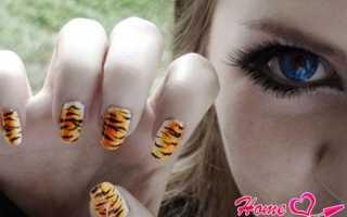 Маникюр с тигровым принтом: маникюр, фото дизайна ногтей