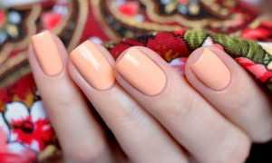 Персиковый маникюр с серебром: маникюр, фото дизайна ногтей