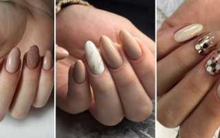 Маникюр нюд с фольгой: маникюр, фото дизайна ногтей