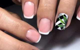 Двойной чёрно-белый френч: маникюр, фото дизайна ногтей