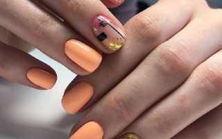 Дивные персиково-ментоловые ногти: маникюр, фото дизайна ногтей