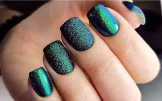 Изумрудный гель, сатин и малахит: маникюр, фото дизайна ногтей