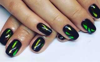Маникюр фиолетовый битое стекло: маникюр, фото дизайна ногтей