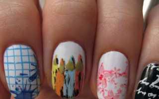 Милые кляксы в школьном маникюре: маникюр, фото дизайна ногтей