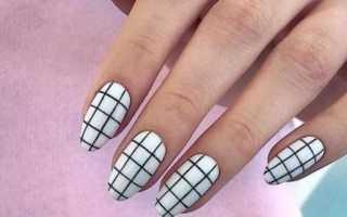 Маникюр с клеткой: маникюр, фото дизайна ногтей
