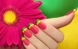 Варианты цветного френча для длинных ногтей: маникюр, фото дизайна ногтей