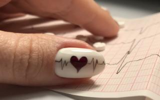 Ярко-красный маникюр на День влюбленных: маникюр, фото дизайна ногтей