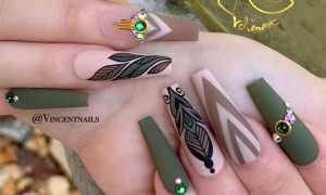 Матовый зеленый маникюр: маникюр, фото дизайна ногтей