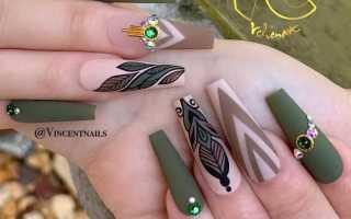 Маникюр матовый зеленый: маникюр, фото дизайна ногтей
