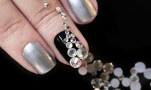 Черный маникюр с серебряным напылением: маникюр, фото дизайна ногтей