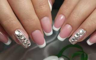 Аккуратный белый френч на свадьбу: маникюр, фото дизайна ногтей