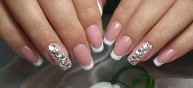 Свадебный маникюр френч: маникюр, фото дизайна ногтей