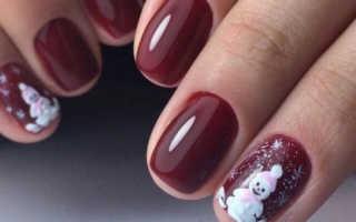 Новогодняя ночь в фиолетовом маникюре: маникюр, фото дизайна ногтей